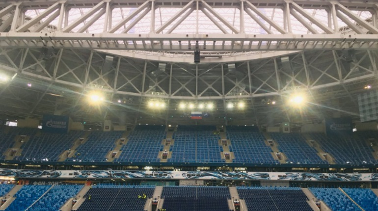 «Зенит» играет с «Уфой» под открытой крышей «Газпром Арены»