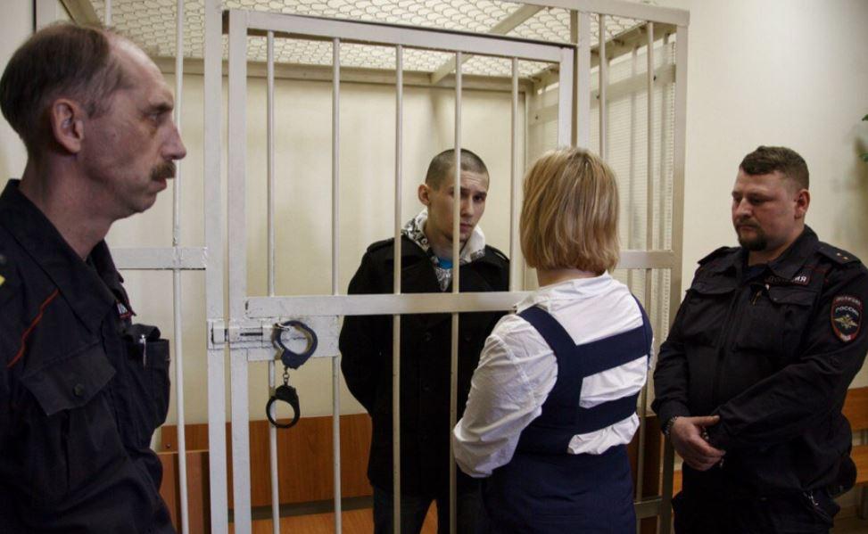 Владимир Казаченко в суде. Фото: Движение «Весна»