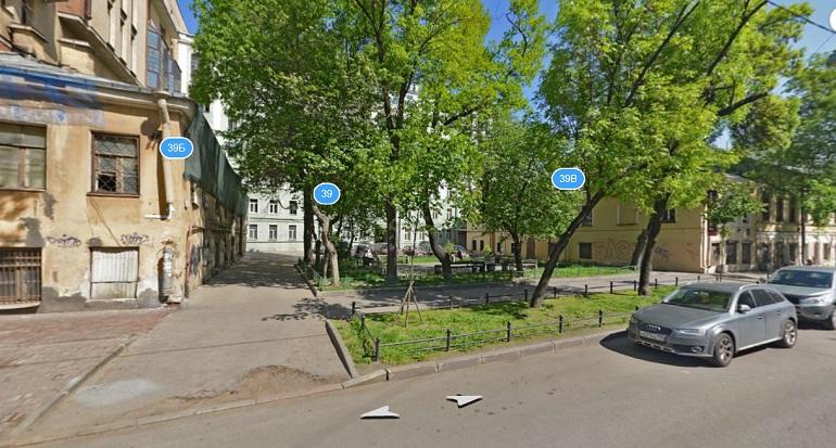 Здания на 4-й линии В.О., 39, литеры Б и В. Фото: Яндекс. Панорамы