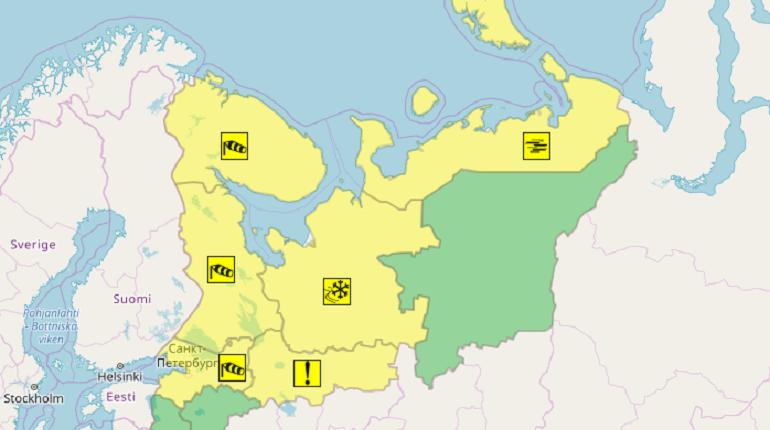 В Петербурге объявлен желтый уровень опасности