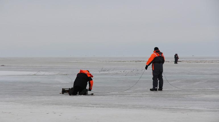 Спасатели Ленобласти достали из озера в Кавголово тело утонувшего лыжника