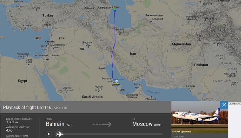 В Баку экстренно сел самолет «Уральских авиалиний», летевший в Москву