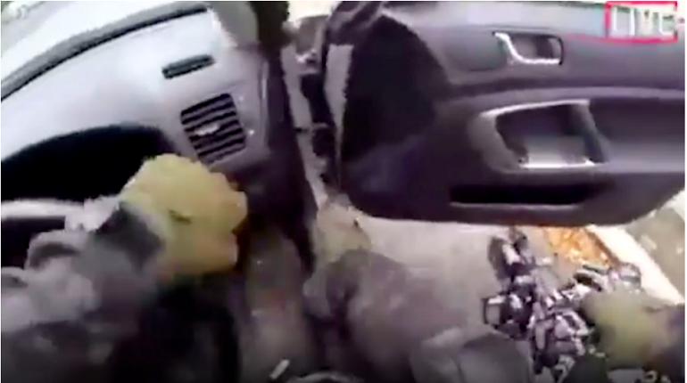 Фото-кадр видео с места происшествия