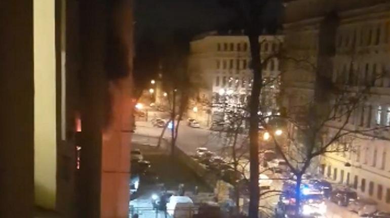 Пожар на Таврической. Фото: кадр видео