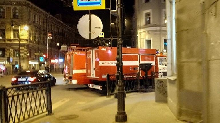 Пожар на улице Рубинштейна. Фото: vk.com/spb_today