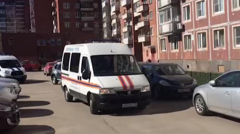 Место происшествия в Колпино. Фото: кадр видео 78.ru