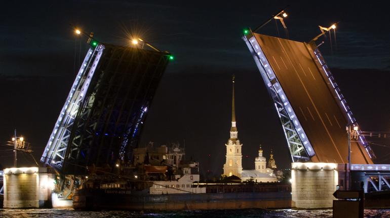 Развод Дворцового моста. Фото: Baltphoto