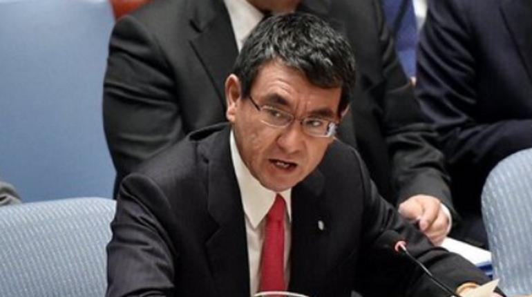 Глава МИД Японии Таро Коно. Фото: Twitter