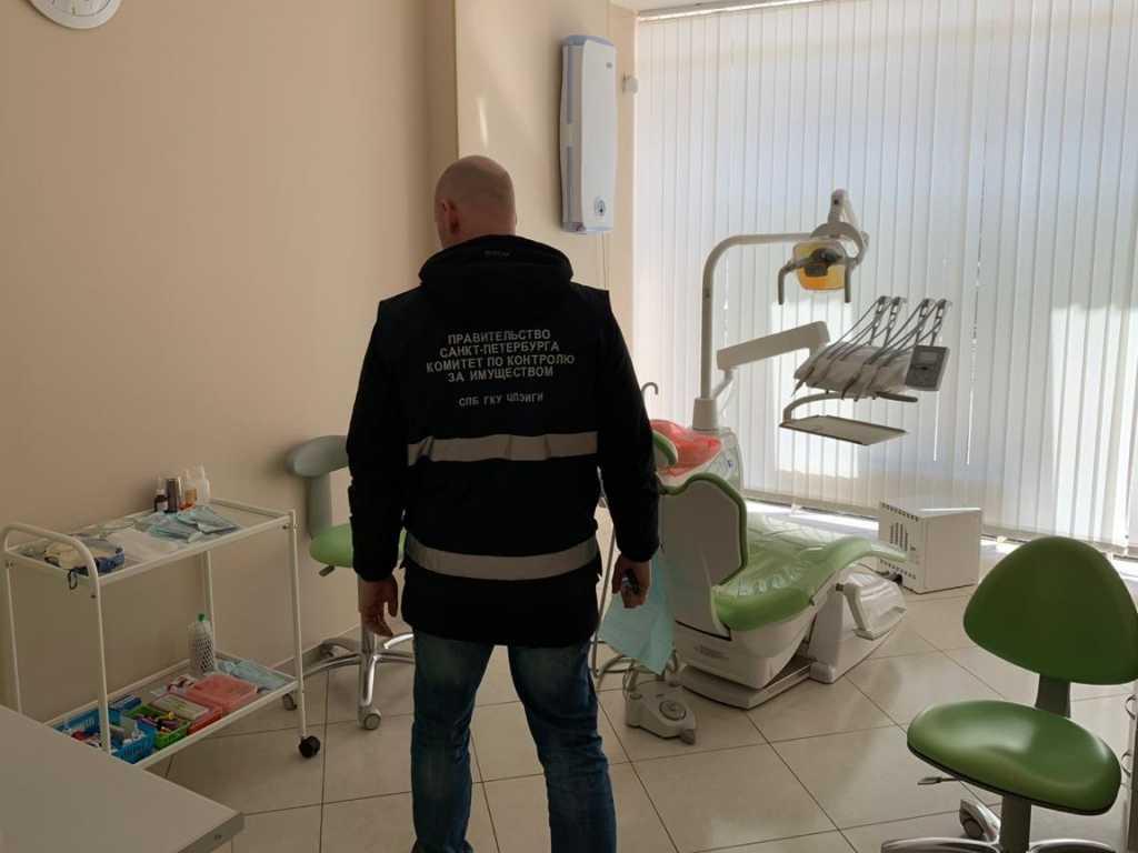 В Калининском закрыли нелегальную стоматологическую клинику. Фото: Комитет по контролю за имуществом Петербурга