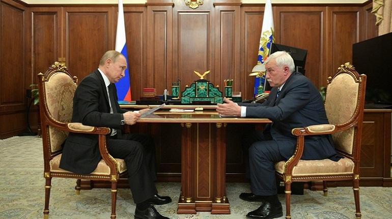 Путин встретился с экс-губернатором Петербурга Полтавченко