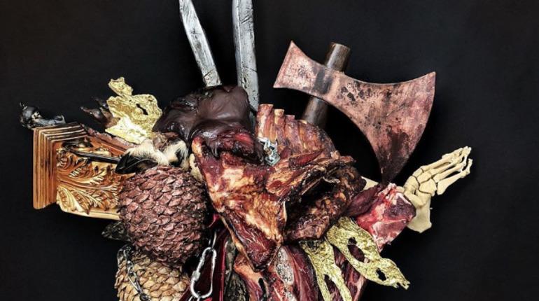 В Петербурге создали букет по мотивам «Игры престолов» — с драконьими яйцами и скелетом