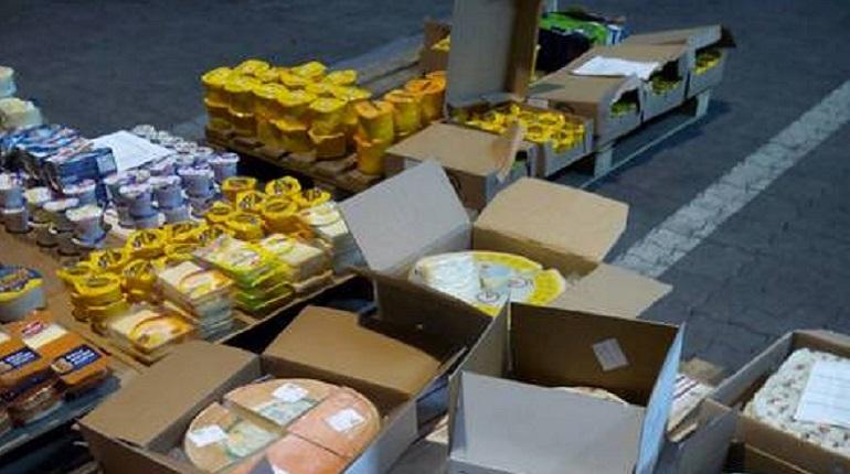 Центнеры сыра сожгли на глазах незаинтересованных лиц на Выборгской таможне