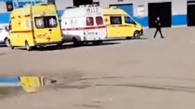 Место происшествия в Серпухове. Фото: кадр видео