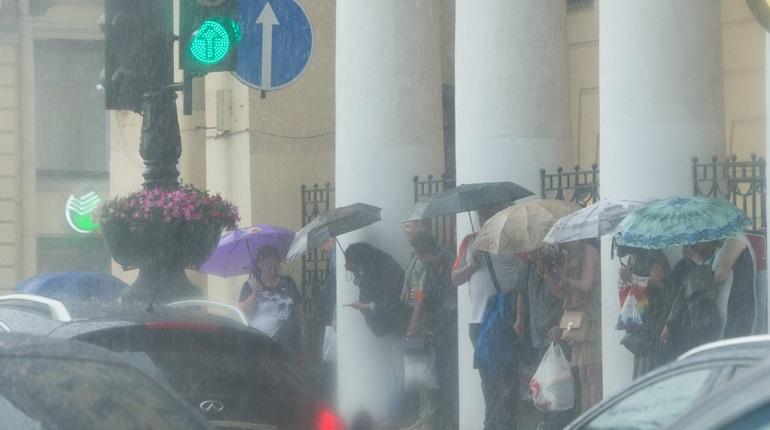 Гидрометцентр объявил желтый уровень в Петербурге из-за грозы