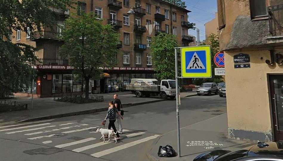 Лепнина рухнула на машину с водителем на Петроградке