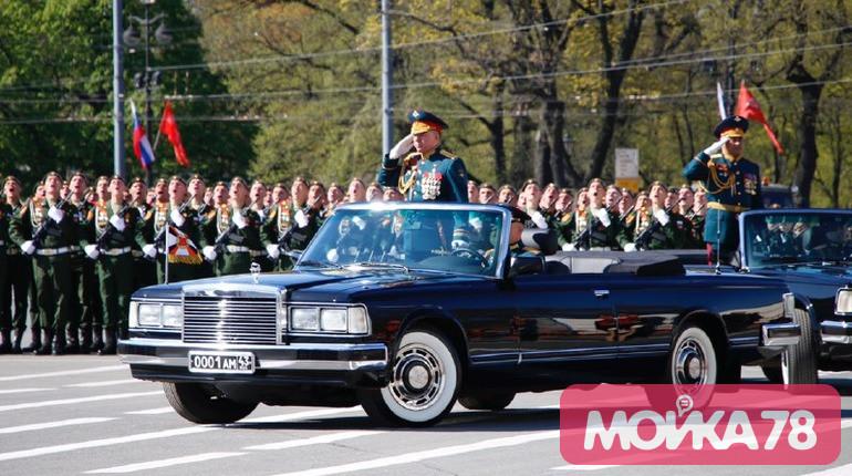 Парад на Дворцовой 9 мая. Фото: Мойка78/Николай Овсянников