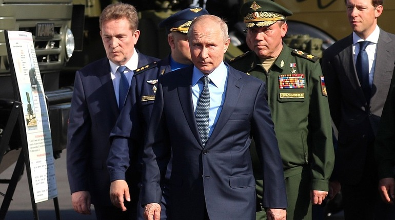 Владимир Путин в центре имени Чкалова. Фото: kremlin.ru