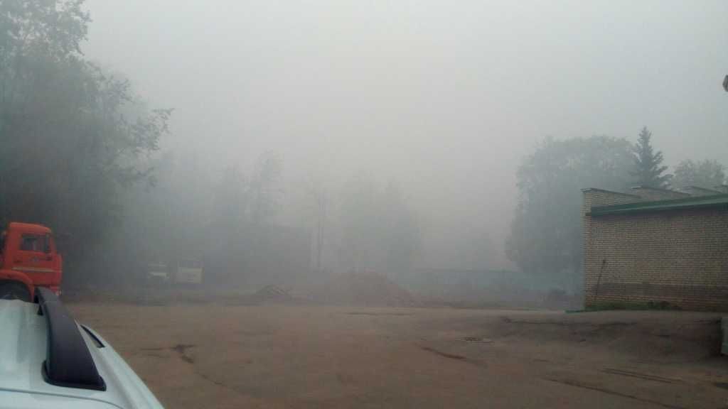 Дым в Волхове. Фото: vk.coim