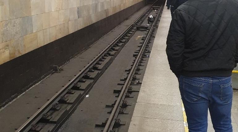 В метро «Проспект Ветеранов» на рельсы упал человек