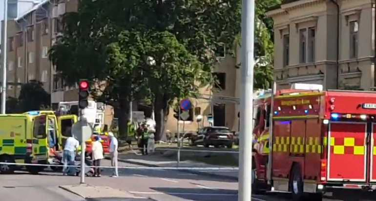 Появились два видео последствий взрыва в шведском Линчепинге