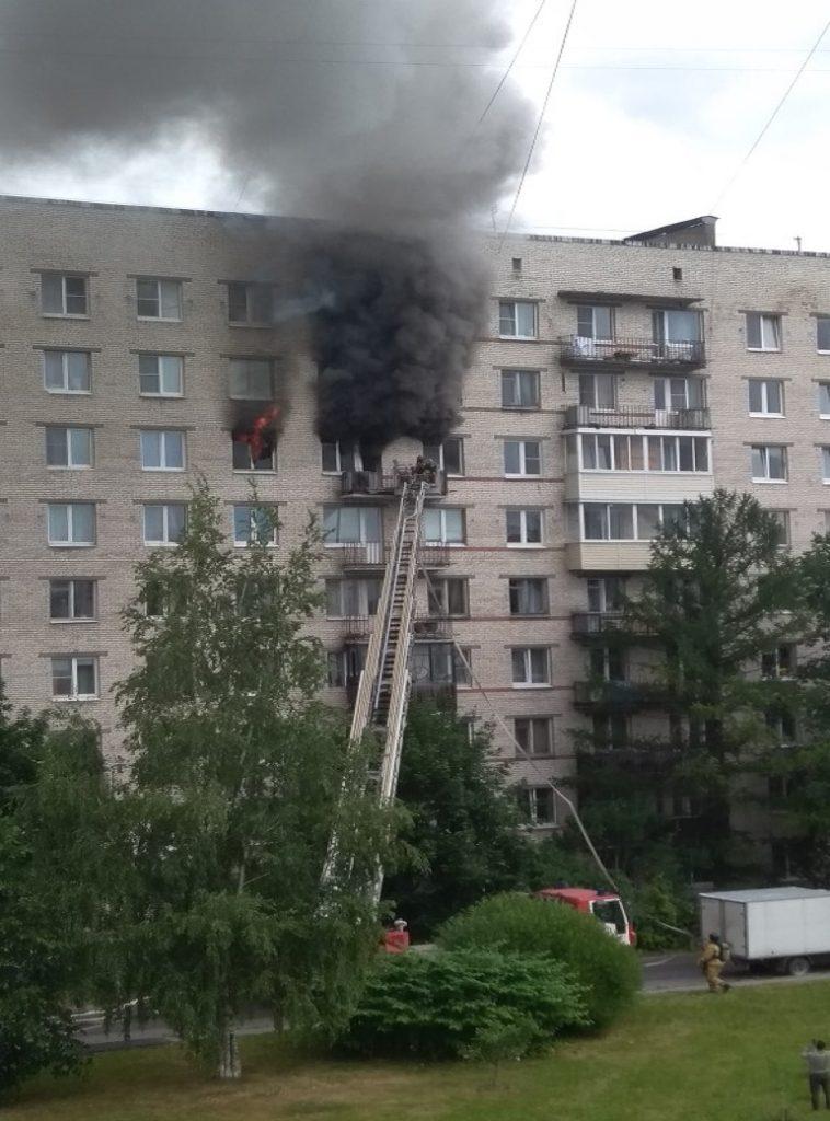 Загорелся дом на улице партизана Германа