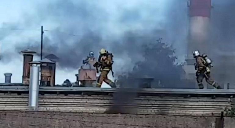 МЧС: пострадавших на пожаре в Предпортовом нет