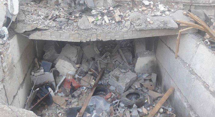 Мощный взрыв в центре Киева уничтожил гаражи и автомобили