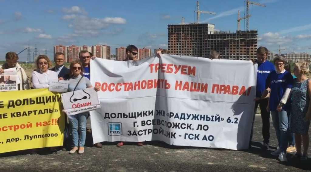Обманутые дольщики и активисты Ленобласти обратились за помощью к Путину