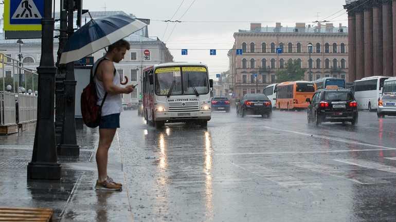 Петербуржцев предупреждают о грозах с порывистым ветром