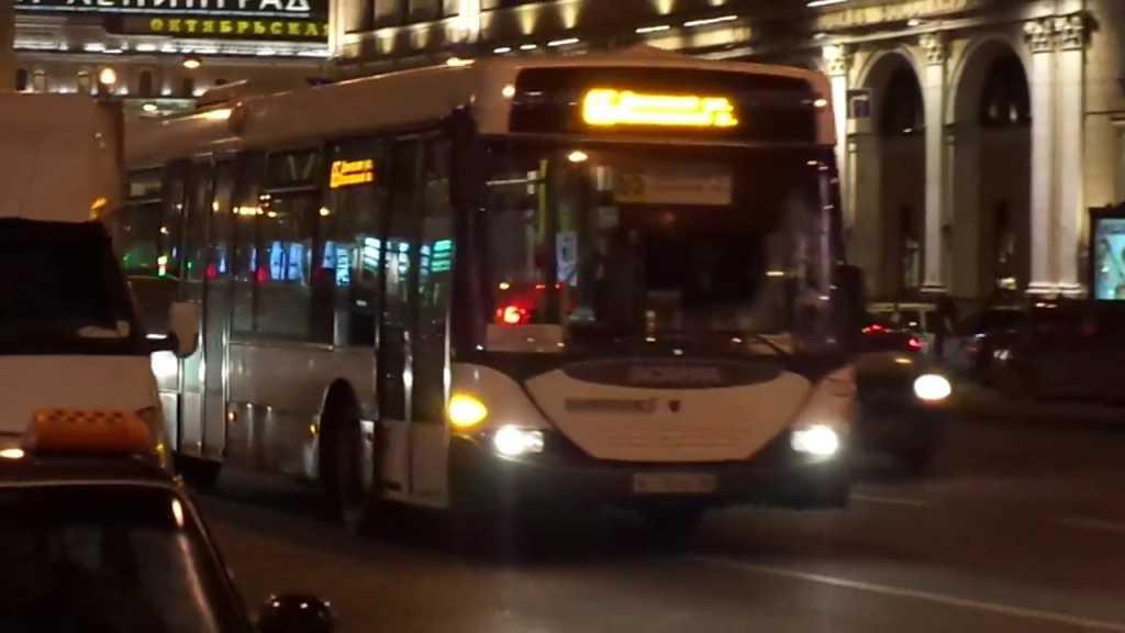 Ночные автобусы развезут петербуржцев до метро в ночь на Рождество