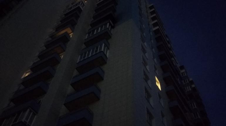 Очевидцы: МЧС выломало дверь в квартиру из-за пожара на Московском шоссе