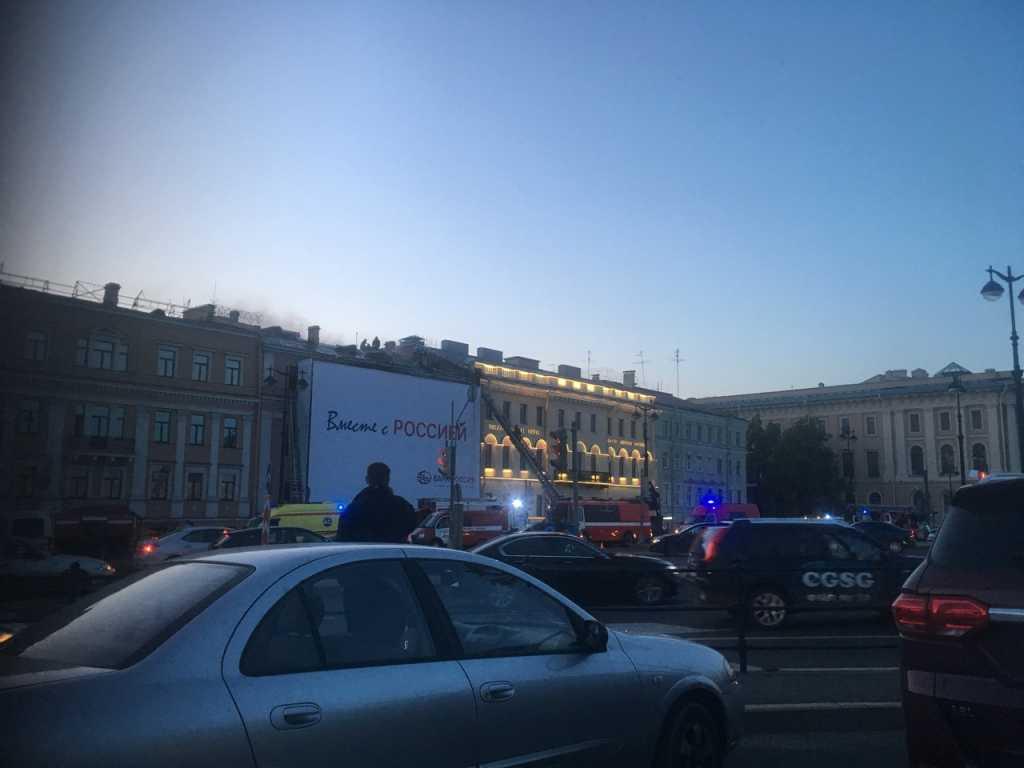 Пожар в доме Черкасского удалось локализовать