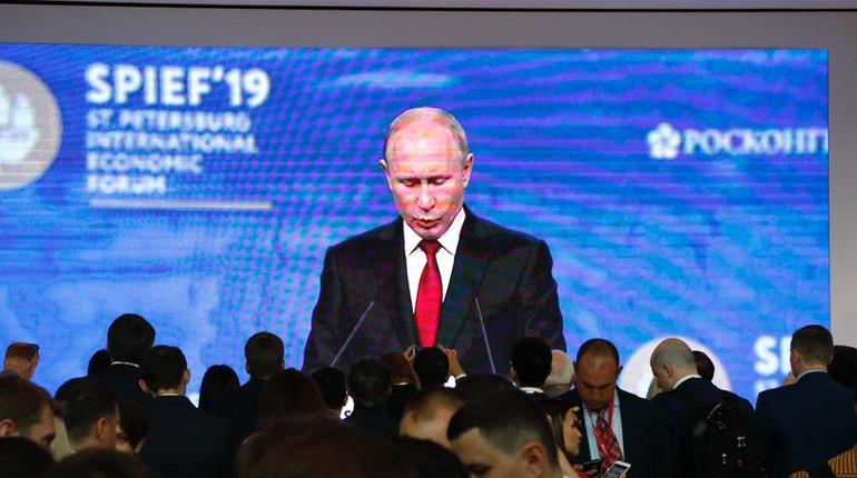 Владимир Путин на ПМЭФ. Фото: Мойка78