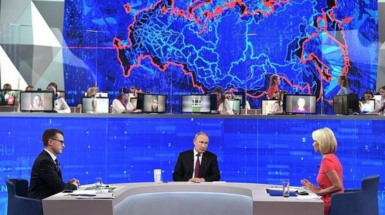 Прямая линия Путина: Петербург и Ленобласть не задали вопросы президенту