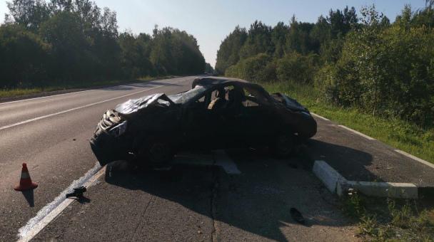 В ДТП под Киришами погиб водитель Lada Granta