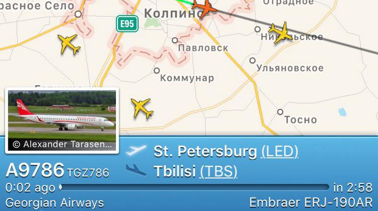 Из Петербурга вылетел последний самолет в Грузию