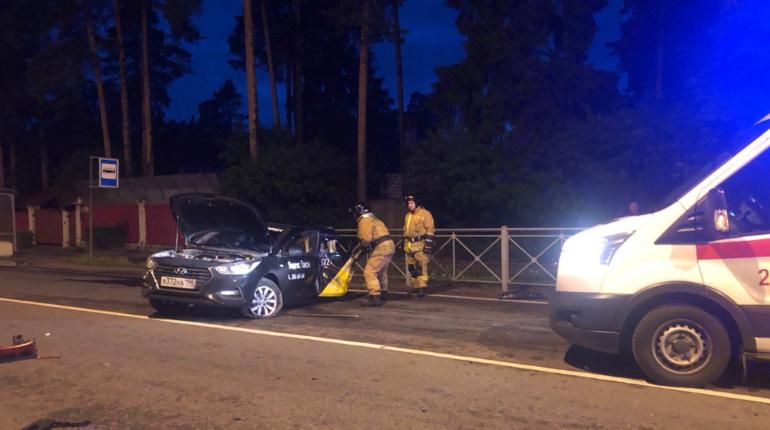Дорожка из огня и погибший водитель: в Песочном произошло ДТП