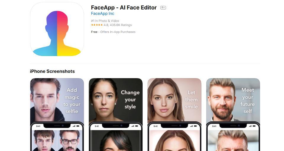 В США российский Face App назвали угрозой национальной безопасности