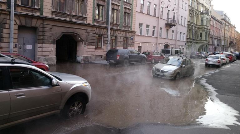 Среднюю Подьяческую затопило теплой водой