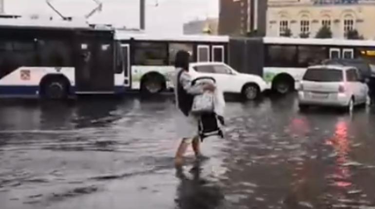 «Речные троллейбусы» и катание на вейкбордах: Петербург поплыл