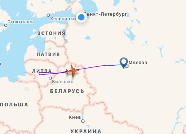 Борт UTair Москва-Берлин подал сигнал бедствия в небе над Литвой