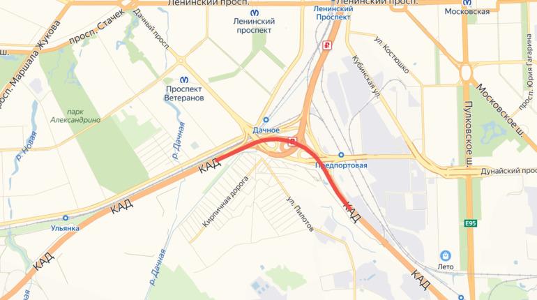КАД между Таллинским шоссе и Дачным проспектом сузят до двух полос
