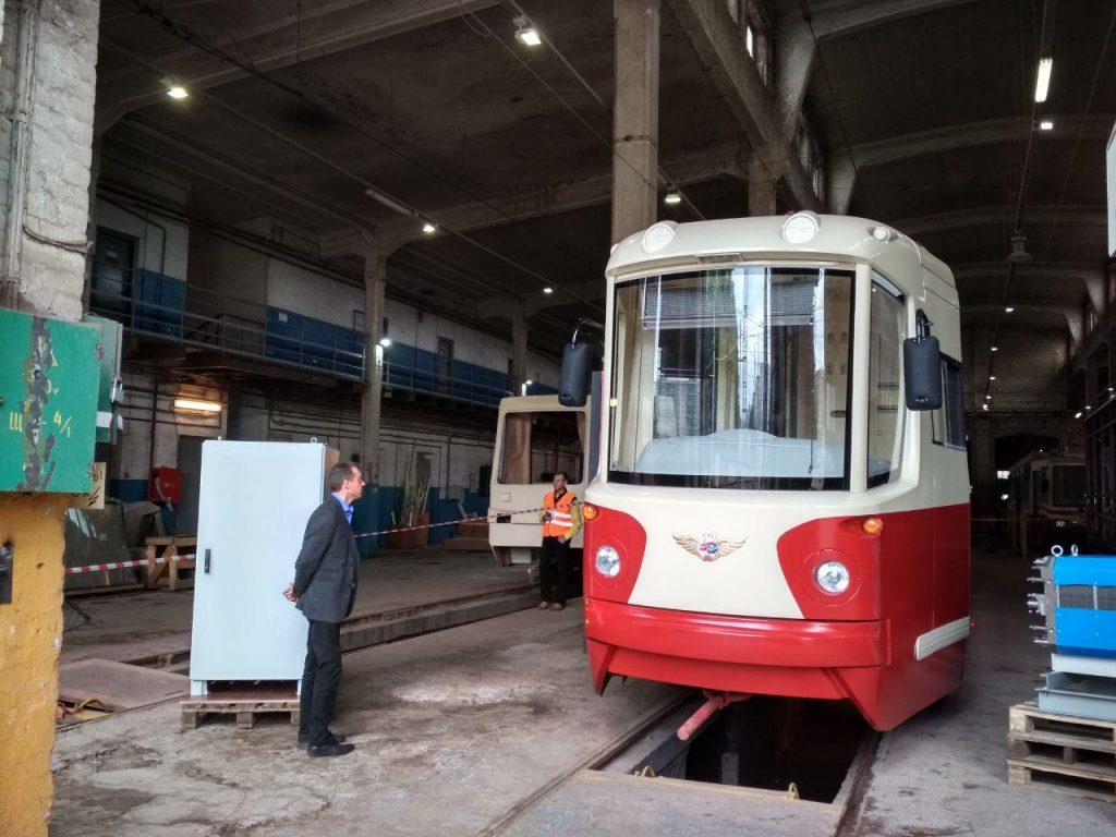 «Горэлектротранс» показал макет трамвая на водородном топливе
