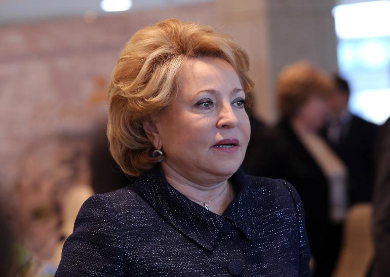 Матвиенко: Россия готова к работе над открытием границ