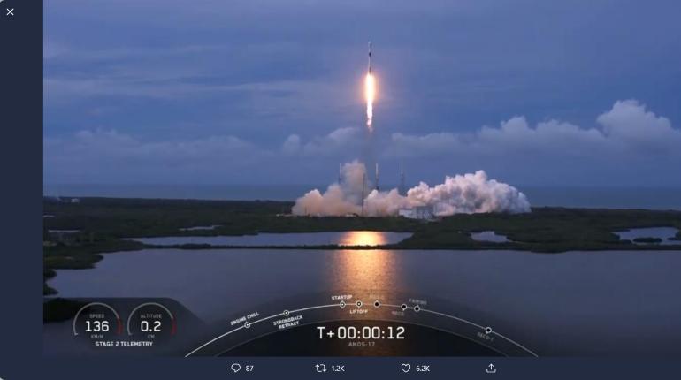 SpaceX запустила ракету Falcon 9 с израильским спутником