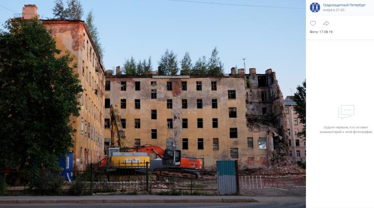 КГИОП объяснил снос дома Крутикова аварийностью конструкций