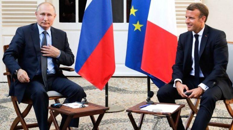 Во Франции расследуют утечку разговора Путина и Макрона