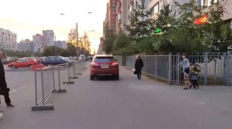 Петербурженка на Lexus, грозившая битой пешеходам, заплатит штраф