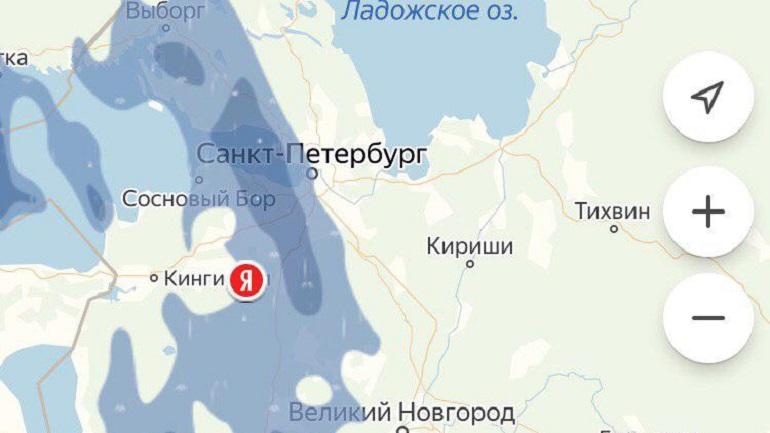 Яндекс карта дождя