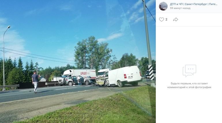 Пять человек пострадали в ДТП на Московском шоссе